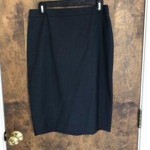Navy blue/gray Ann Taylor pencil skirt